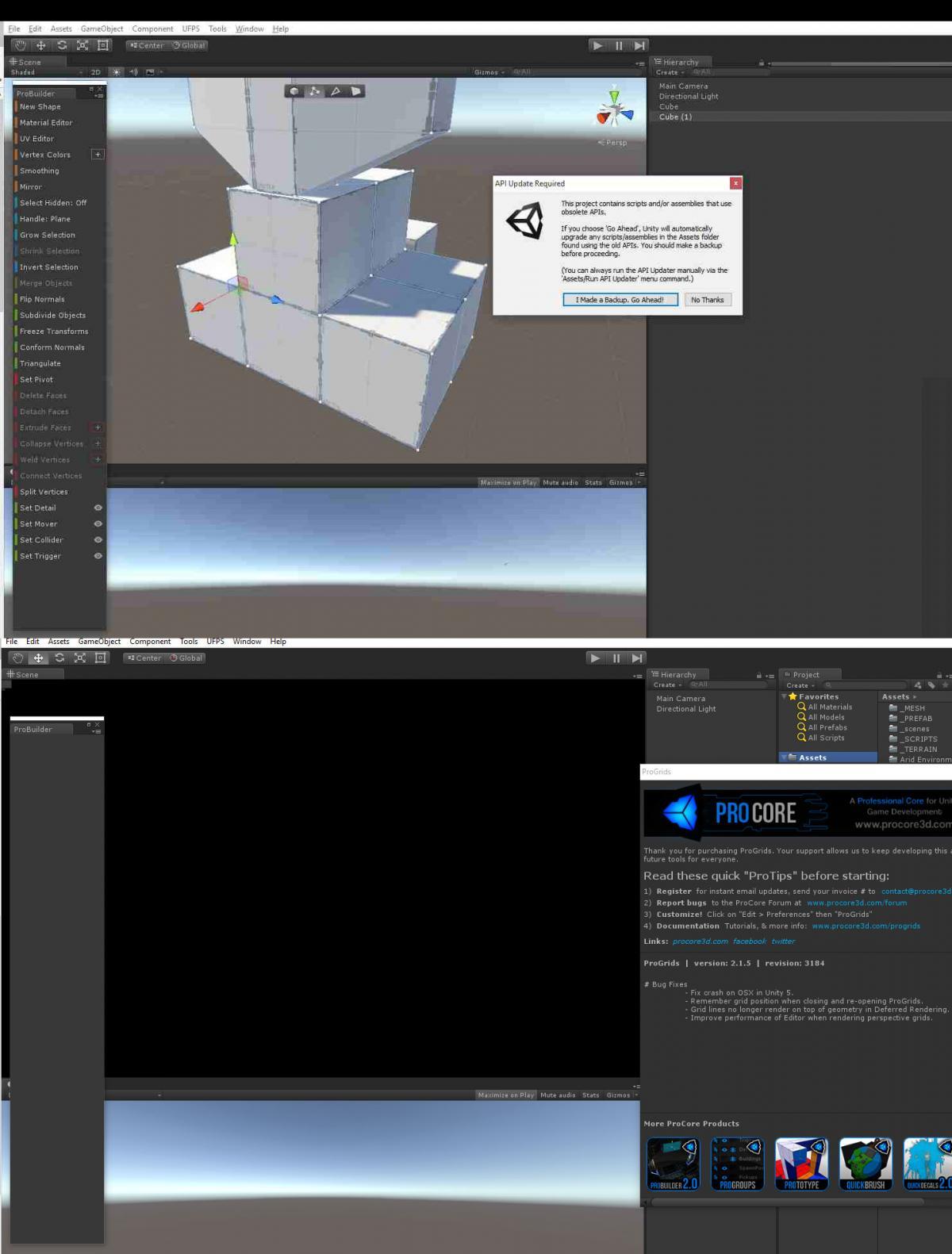 Unity 5 3 4 + ProBuilder + ProGrids - Bug Reports - ProCore