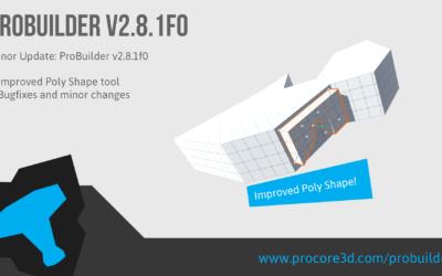 Minor ProBuilder Update: v2.8.1